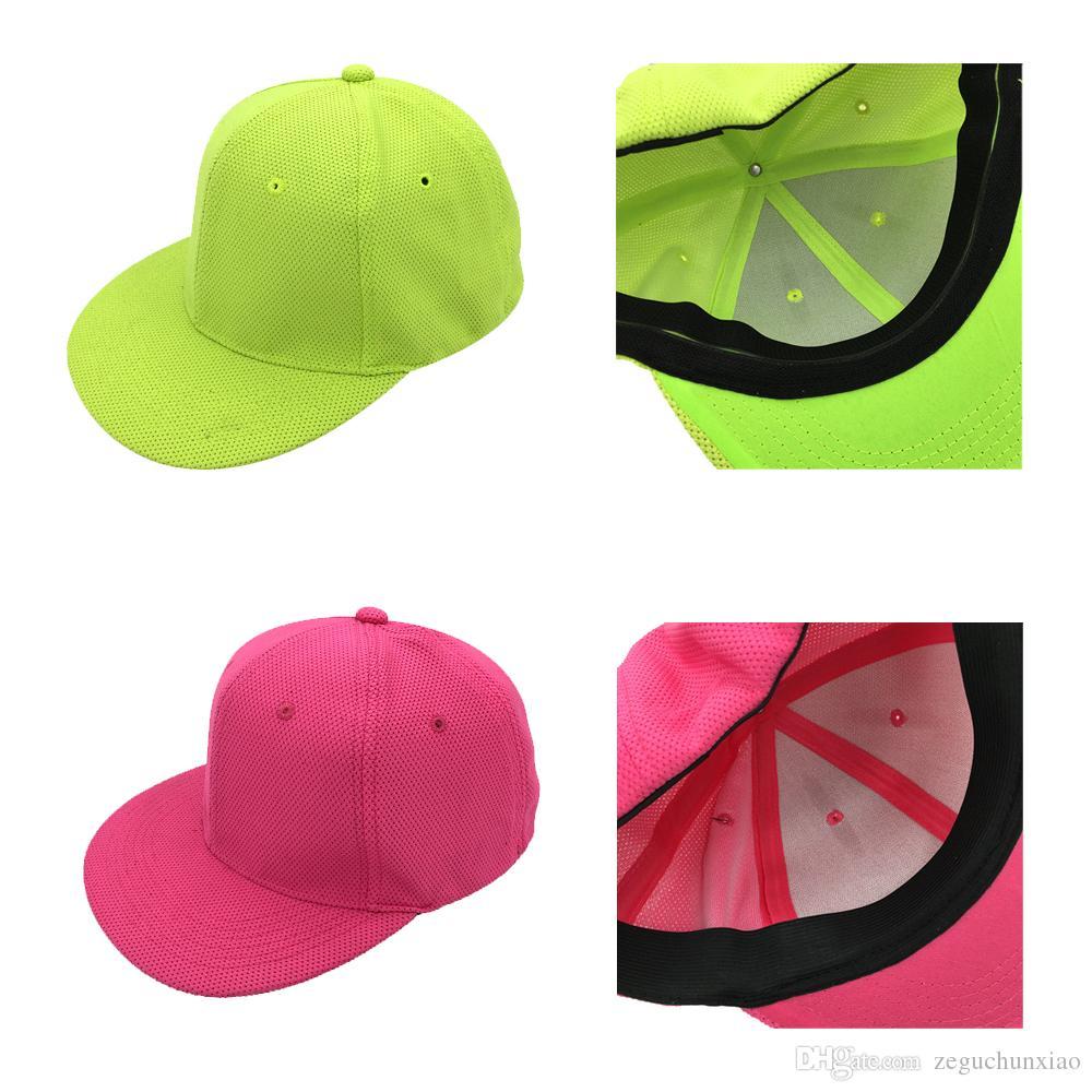 Hip-Hop Cap Flat Hat Breathable Net Baseball Cap Mesh Breathable ... e8f18f0456b9