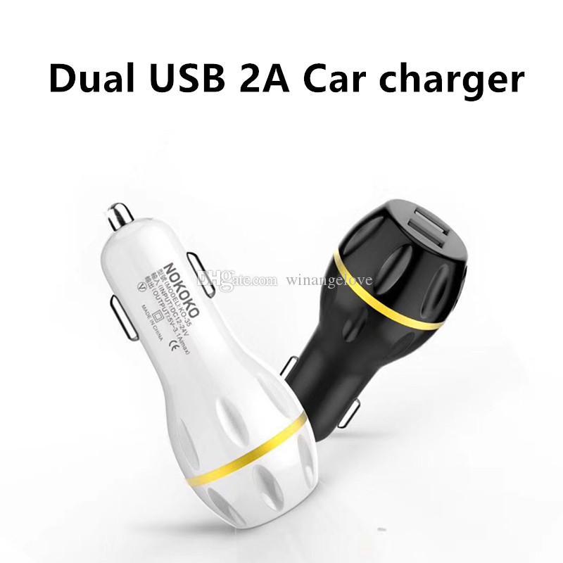 Çift usb portları Led ışık Çilek Araç şarj Şarj 2.1A + 1A Adaptörü iphone 6 6 s 7 artı samsung s4 s6 s7 için hoparlör mp3 gps