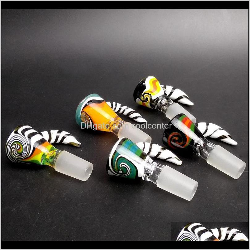 wholesale 14mm bowl and 18mm male glass bowl slide colorful bowls glass smoking accessories for glass bongs water bong oil rigs