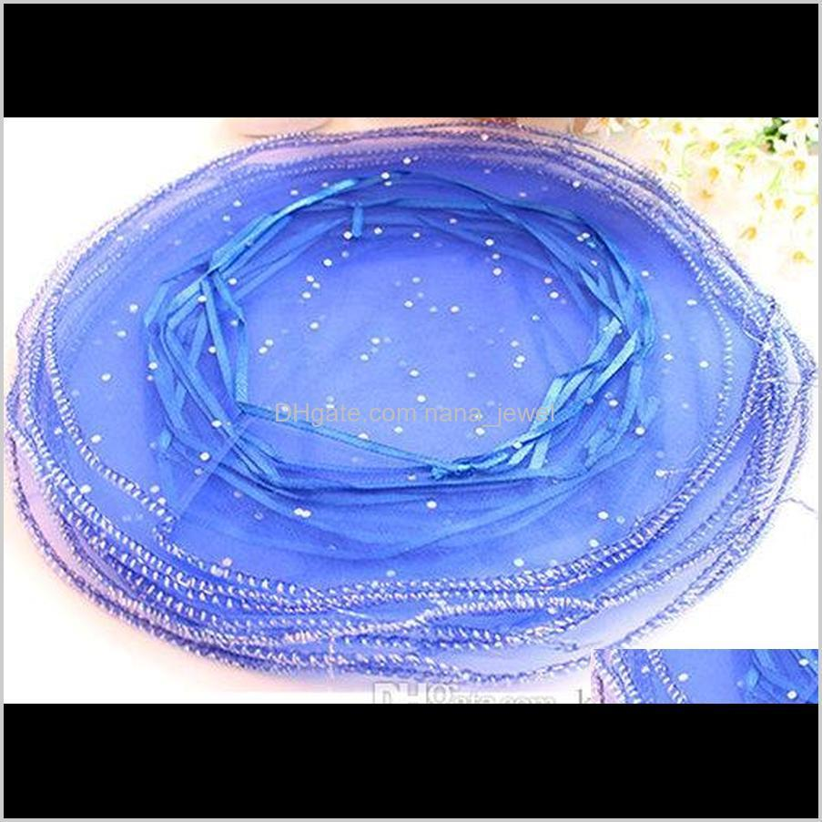 500pcs circle diameter:26cm multi-color organza jewelry bags luxury wedding voile gift bag drawstring jewelry packaging christmas gift