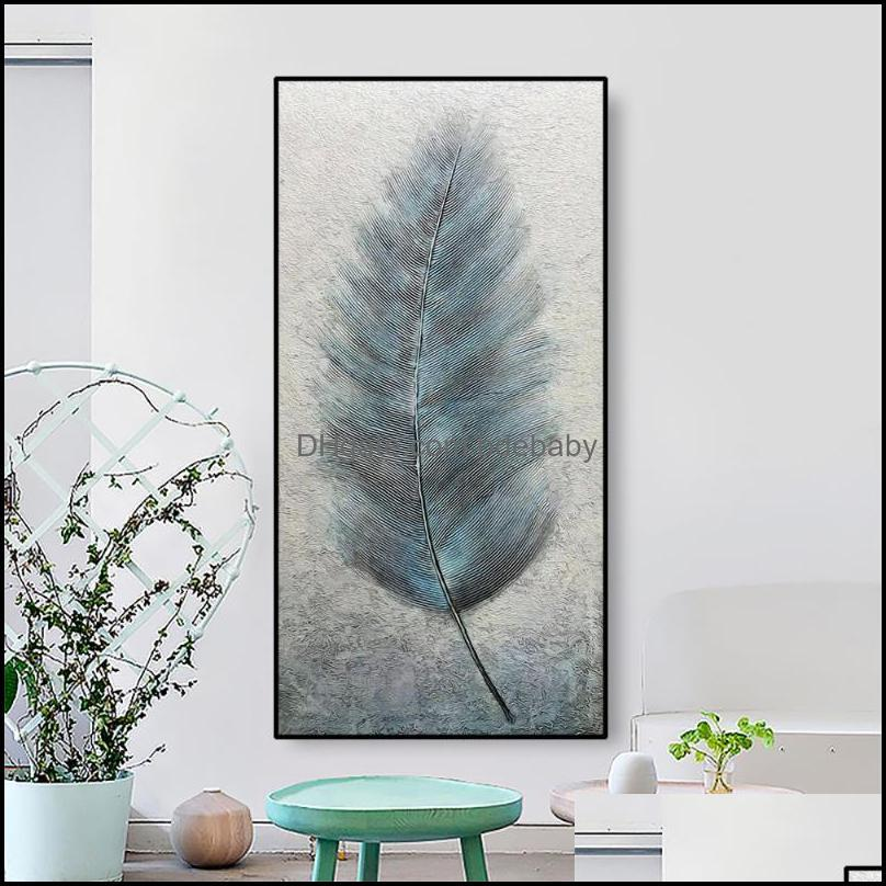 Paintings Nordic Feather Canvas Painting Calligraphy Posters Pictures Wall Art Prints Decoration For Living Room Bedroom Home