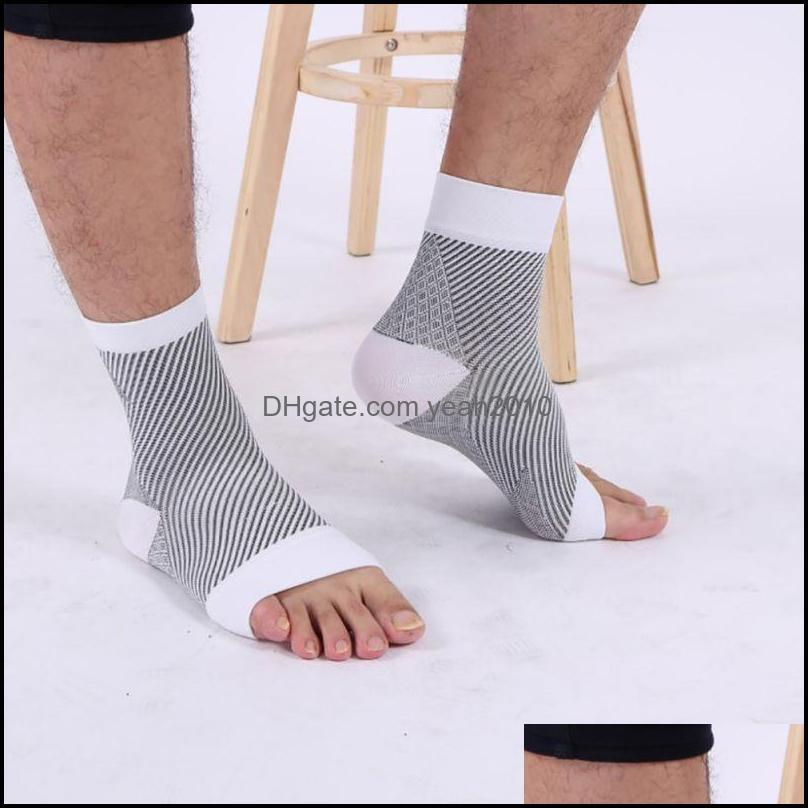 Sports Socks !! Outdoors Women Men Compression Sport Anti Fatigue Arch Heel Plantar Relief Black White Colors Outdoor Rn