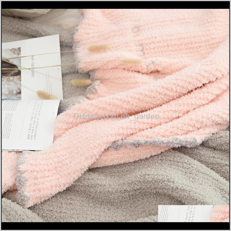 super soft bed blanket chic pink microfiber warm plush bedspreads grey throw for sofa manta home decor 130x170cm blankets