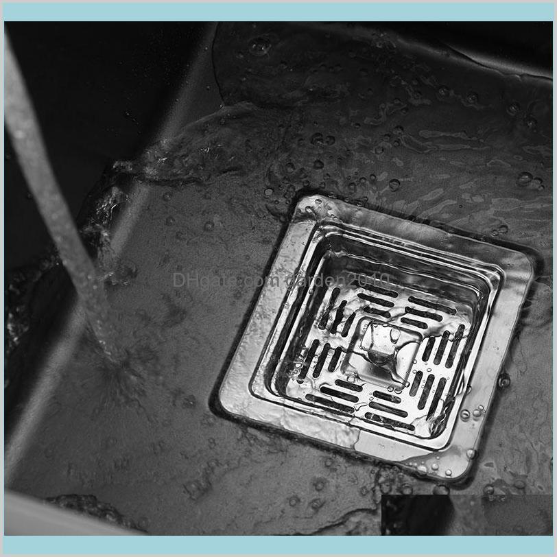 black Hidden Kitchen sink Single bowl