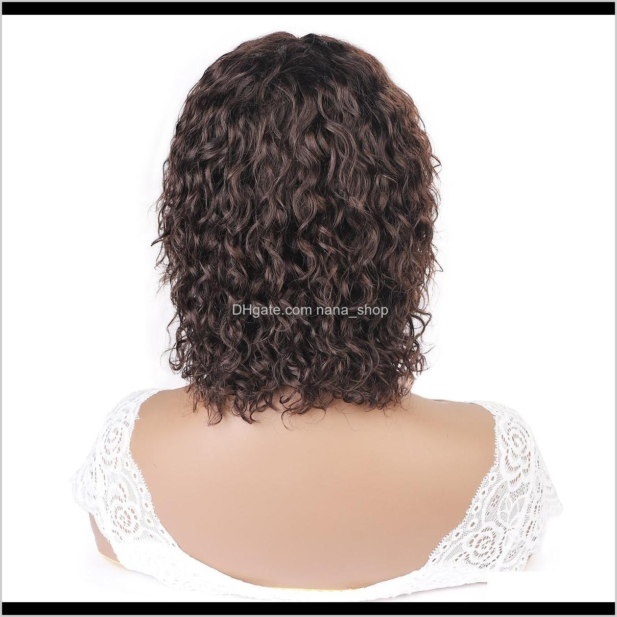 ishow 2# brazilian deep curly human hair wigs with bangs machine made wigs peruvian curly wave none lace wigs indian hair malaysian