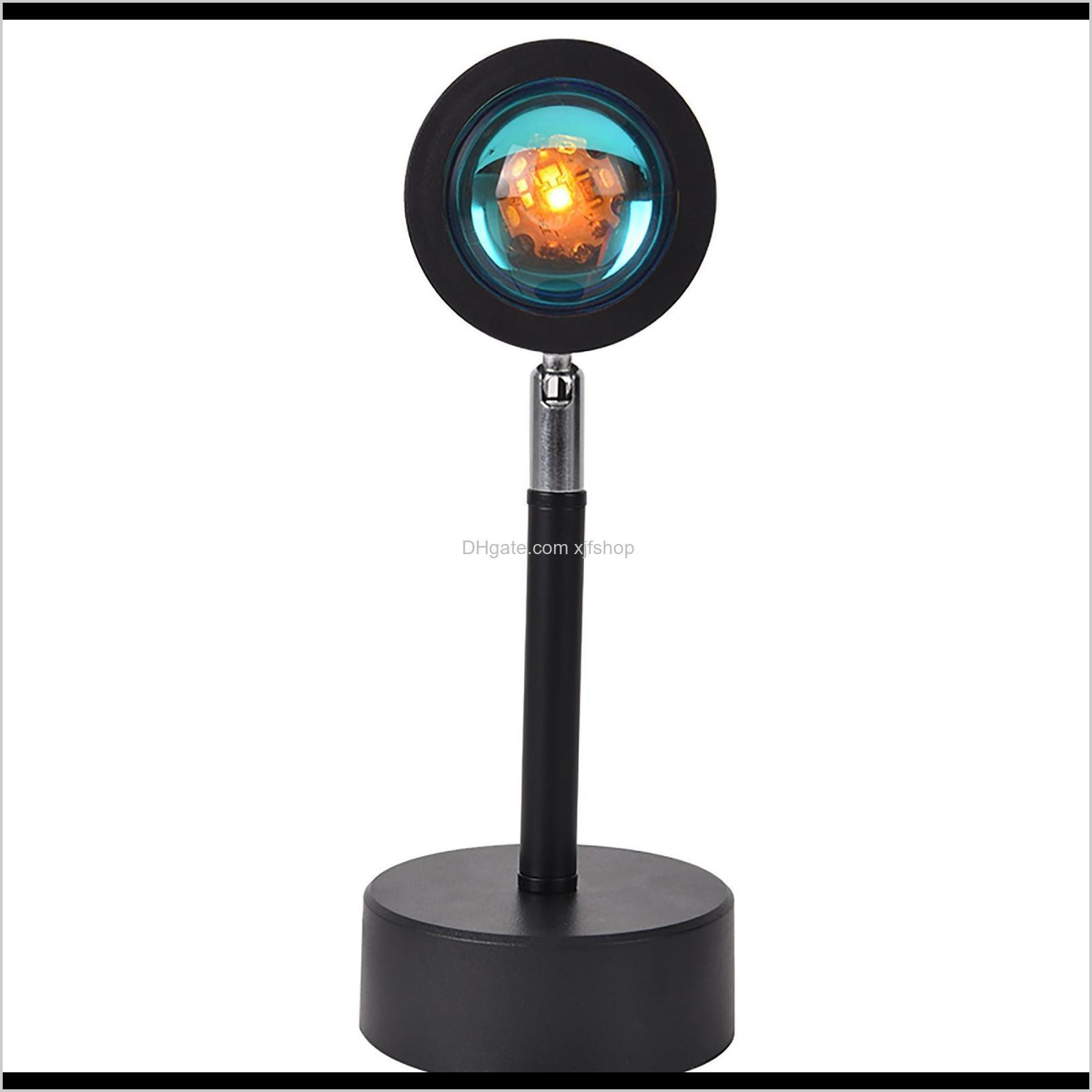 sunset lamp projector projection sunset light with 180° rotatable usb charging rainbow bedroom lamp live room photography photo wall