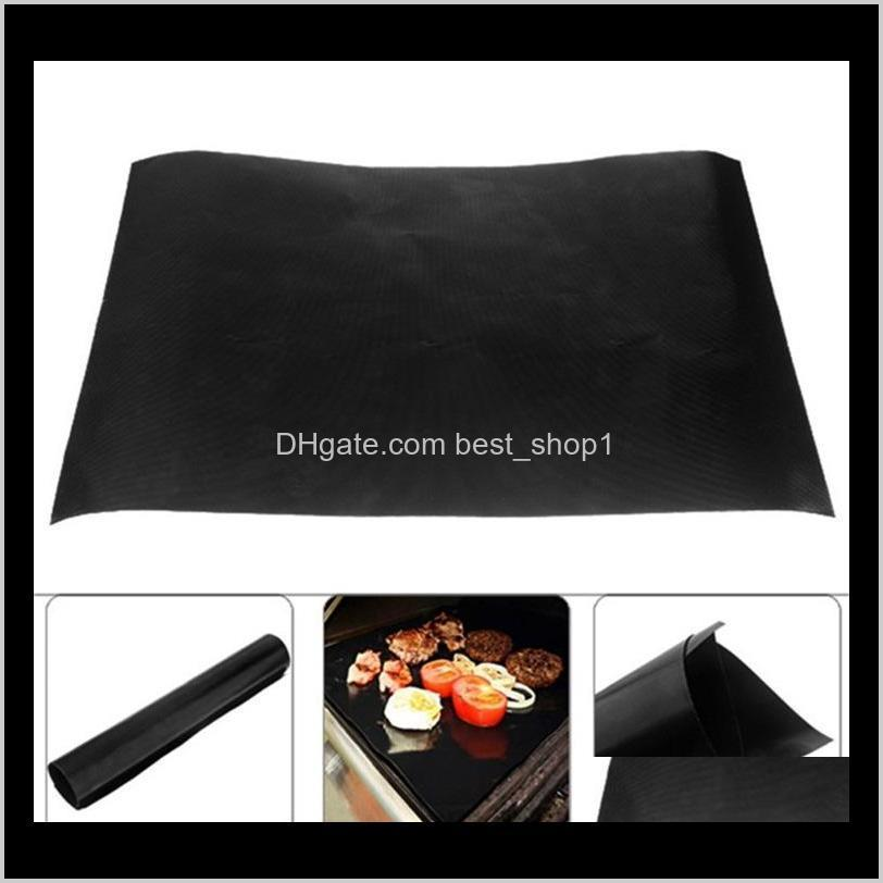 non-stick bbq grill mat heat resisting barbecue baking liners reusable 40 * 30cm picnic cooking sheets