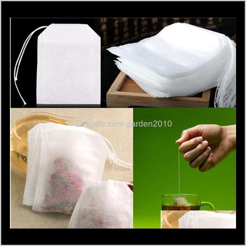 100pcs/pack teabags 5.5 x 7cm empty tea bags with string heal seal filter paper for herb loose tea bolsas 300bag t1i1853