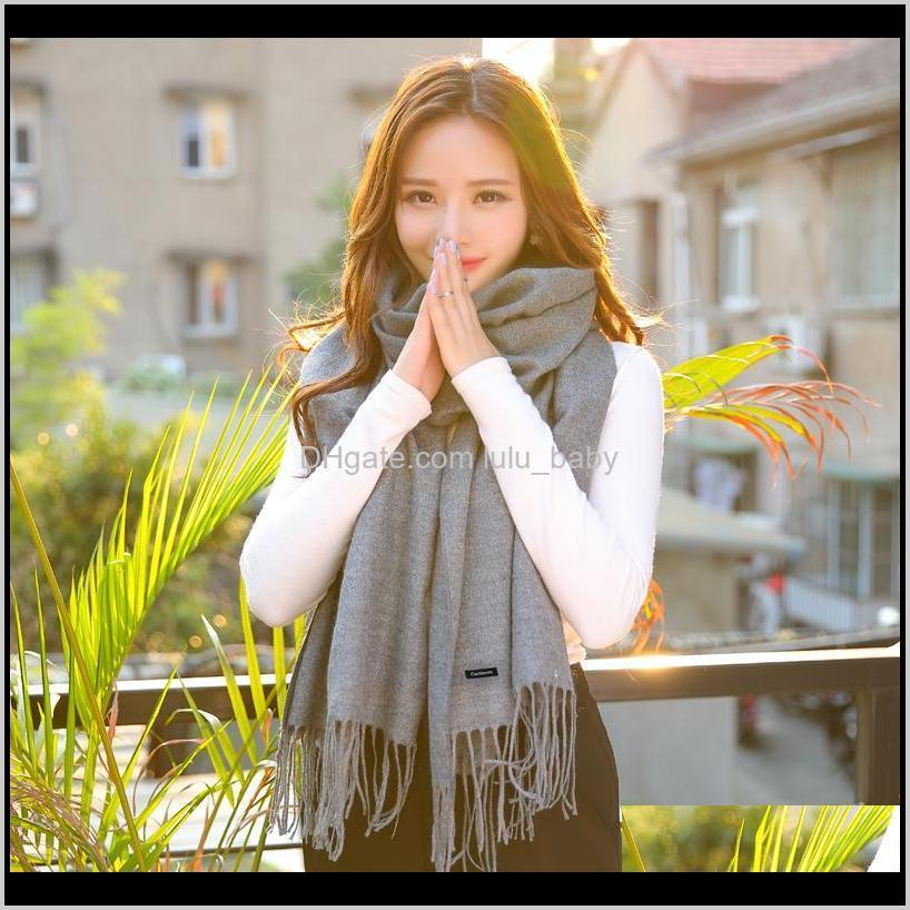shawls and scarves cashmere cape winter warm scarf pashmina soft scarves female tassel cashmere women scarf