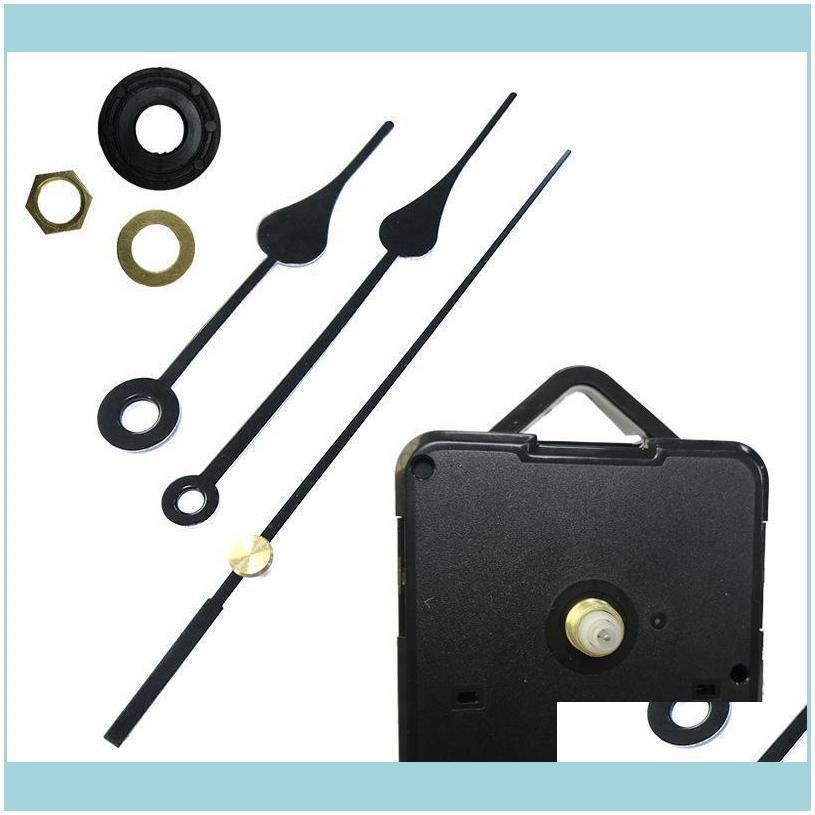 Home Clocks Diy Quartz Clock Movement Kit Black Clock Accessories Spindle Mechanism Repair With Hand Sets