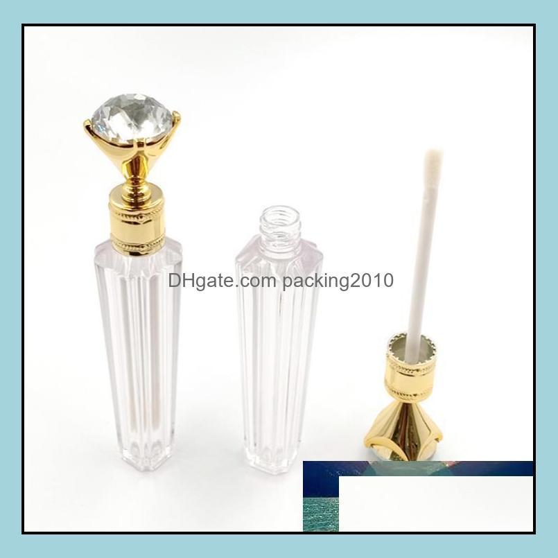 Wholesale Luxury Diamond Lip Gloss Tubes Clear Empty Lip Gloss Tube Lip Gloss Bottle Packaging Containers Refillable Lipgloss Bottles