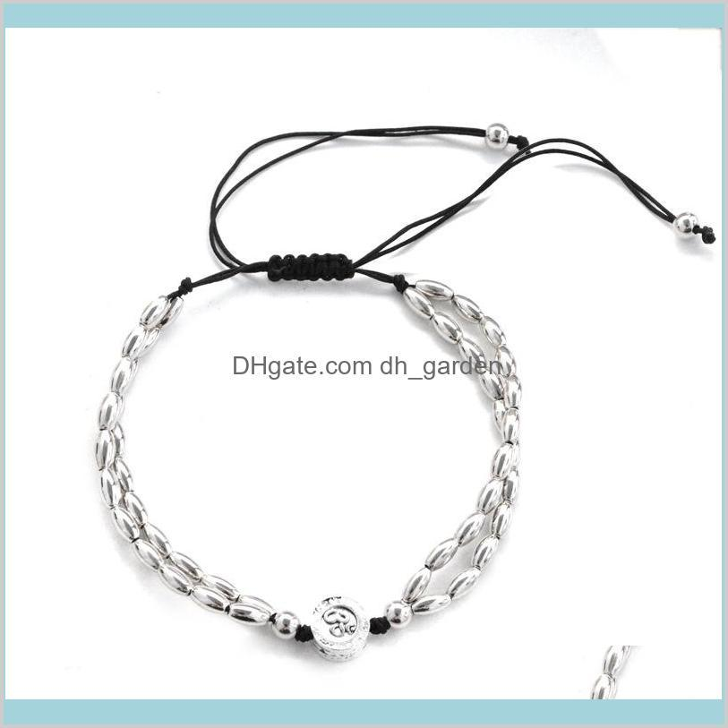 2018 bohemian women fashion jewelry bracelets anklets star om yoga pendant anklet rope chain ankle
