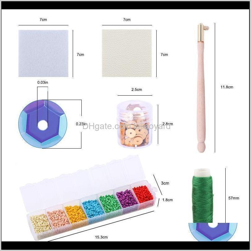 a set bead embroidery kits sewing embroidery supplies sequins sewing thread jewelry making diy handmade craft needwork tools wmtxhe