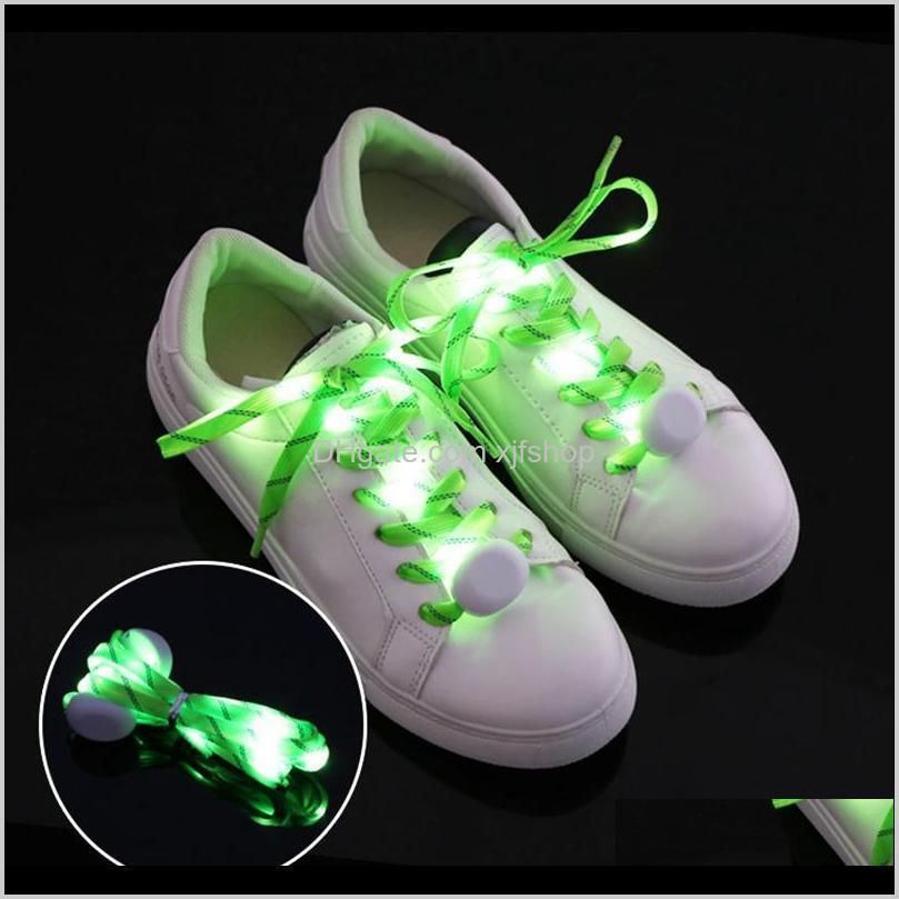 multi-color led shoelace led nightlights light nylon flat luminous glowing flash flashing shoelaces shoe laces lace shoestring