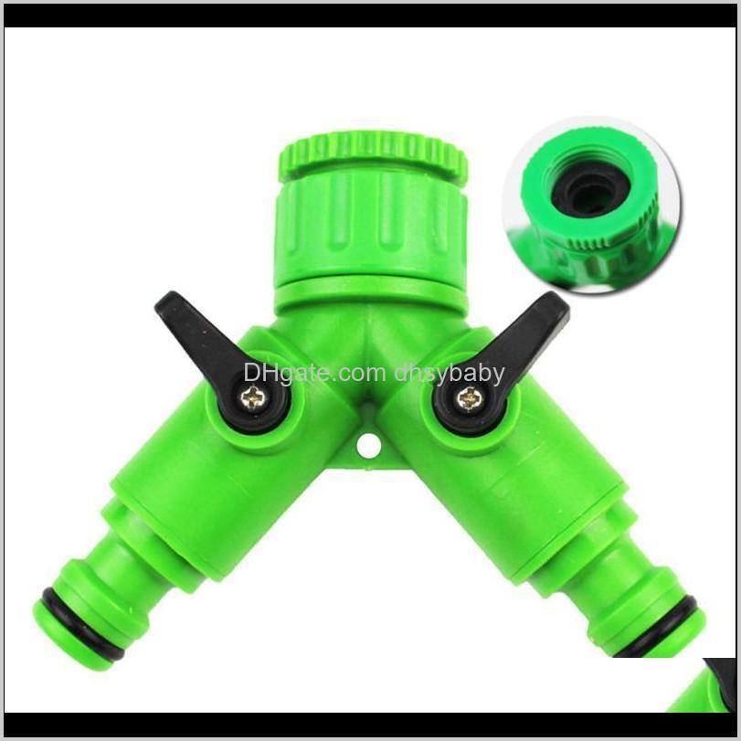 2pcs switch valve split flow separator washing machine faucet joint washing machine water valve(green)