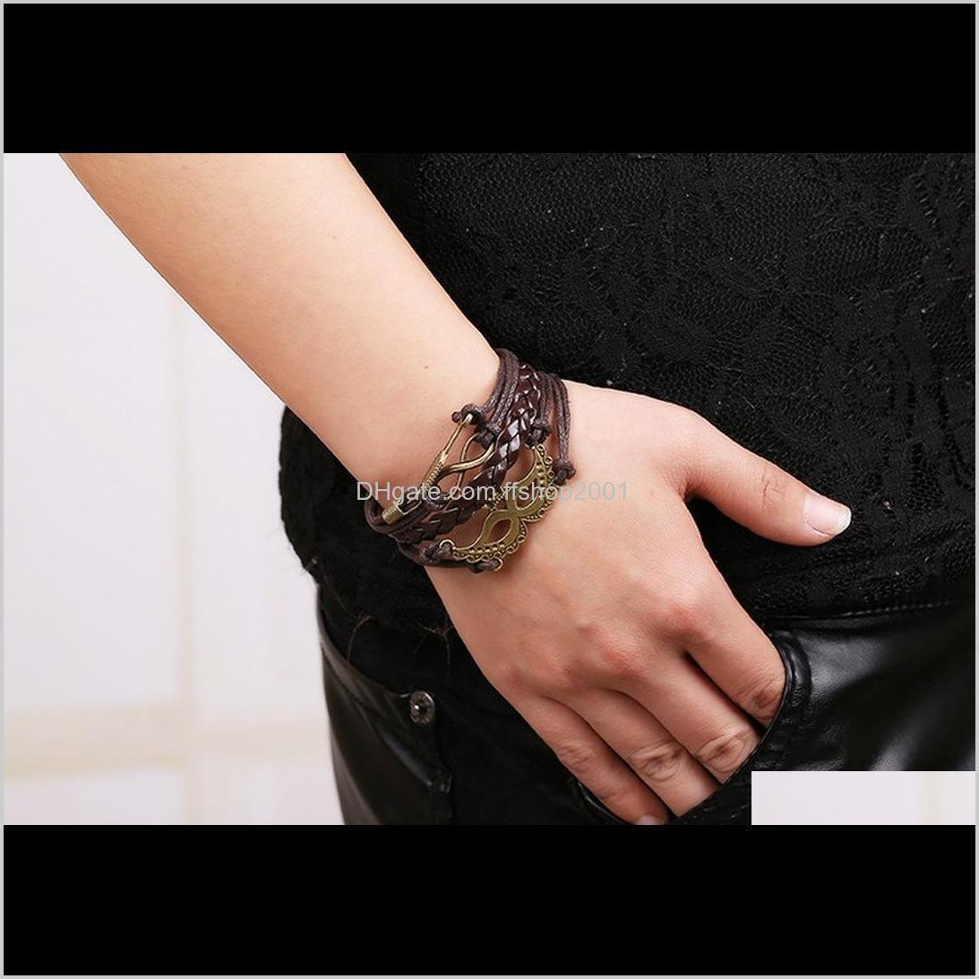 ancient crown mask charm bracelet infinity arrow multilayer bracelets women fashion jewelry will and sandy gift