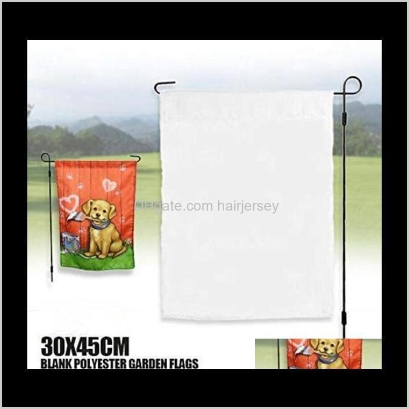 30*45cm trump sublimation garden flag american garden flags heat tranfer printing garden banner blank banners