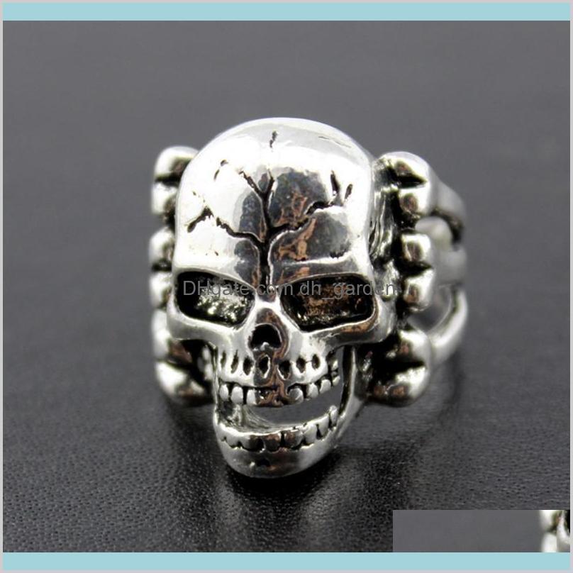 OverSize Gothic Skull Carved Biker Mixed