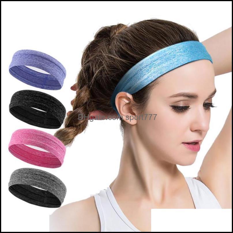 Pc Women Men Yoga Headbands Unisex Sports Hair Band Anti-slip Elastic Sweatband Fitness Gym Running Biking Headband