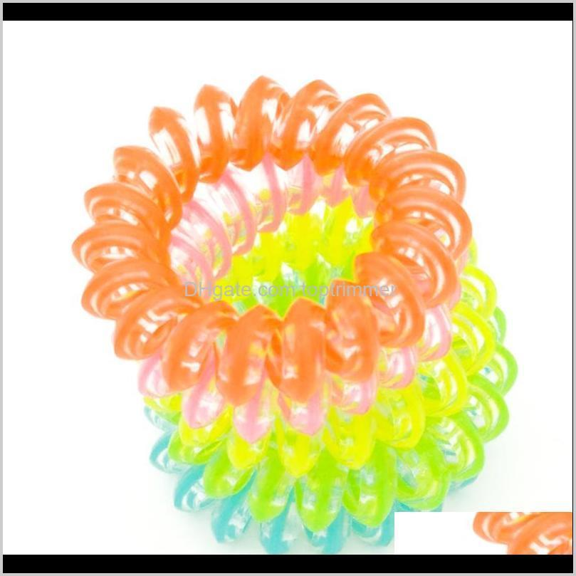 hair rope children hairband 100 pieces /lot size 3 .5cm fashion headbands fluorescence scruchies hair band telephone line wire elastic