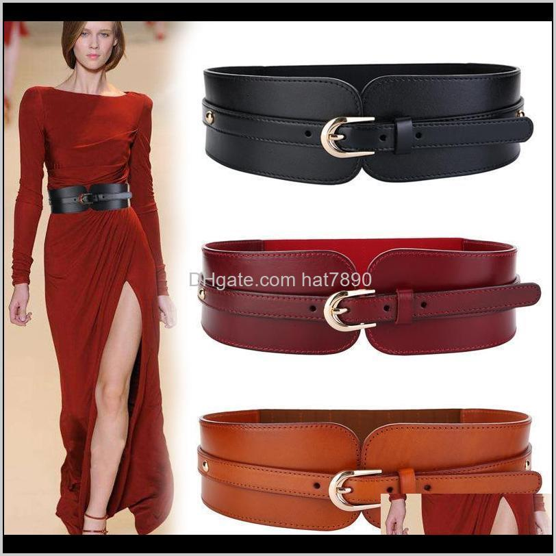 for Belts New Fashion Women Pu Learn Gold Square Pin Gesp Cumberlands Hot Body Corset Builder`s Band