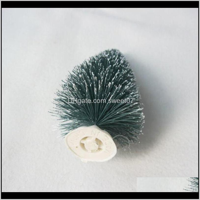 6 pc mini christmas tree christmas decoration, xmas small pine tree in desktop,mini as gifts,decoration navidad