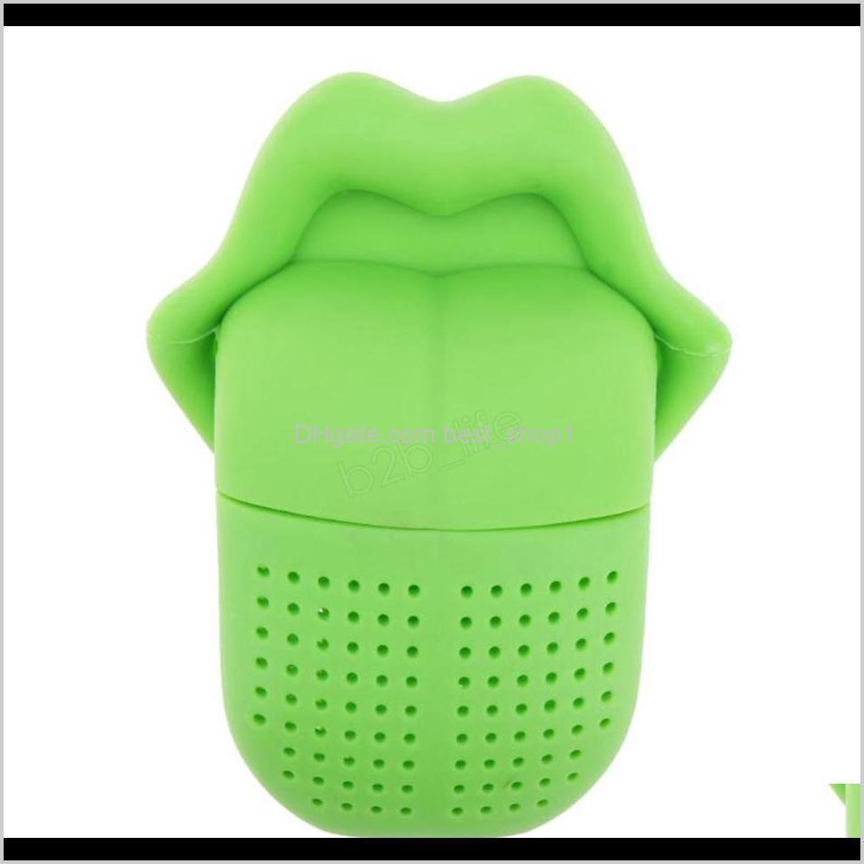 big tongue shape tea strainer bags creative cute food grade silicone loose-leaf tea infuser filter diffuser fun accessories ljja2902