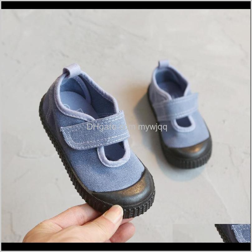ailvyang spring autumn wash old retro children canvas shoes boys and girls students casual shoes kids hooks sneakers 1-7y