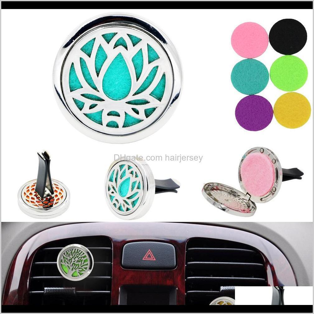 aromatherapy home essential oil diffuser for car locket clip with 5pcs washable felt pads shipping