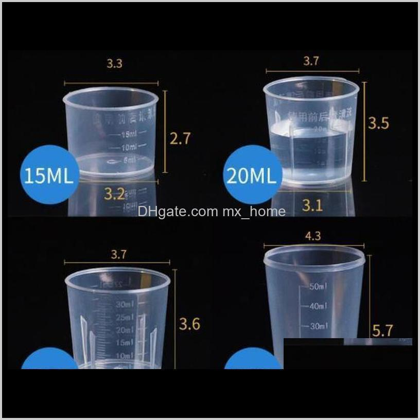 grade plastic cup food kitchen scale bar diy baking tools 20ml/30ml/50ml/500ml measuring transparent for measuring dining with wmteh