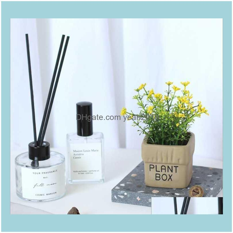 Decorative Flowers & Wreaths Mini Box Foam Baby`s Breath Simulation Pot Plant Bonsai Set Artificial Flower Crafts Ornament