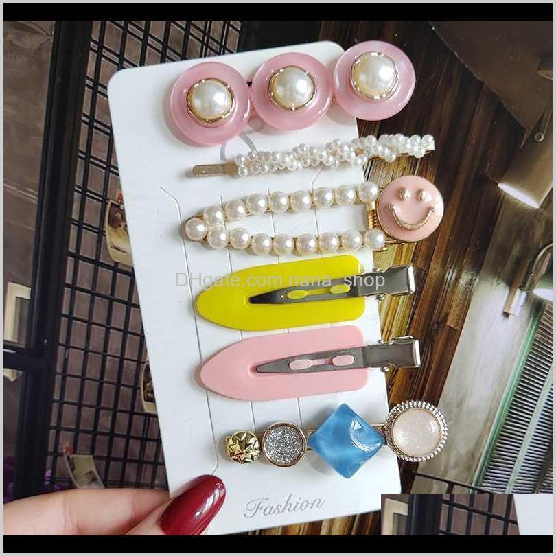 new 2020 trendy crystal hairpin korea simple hairgrip hair accessories women word clip barrettes headwear girl fashion side clip