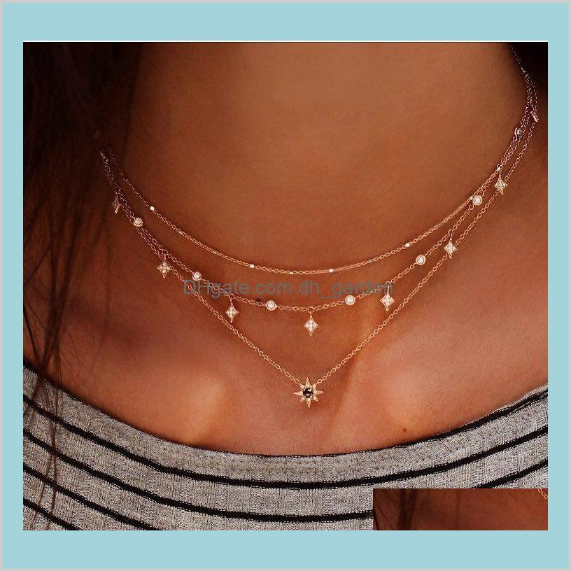 layered necklace with buddha for virgin mary star stars female necklace jewelry