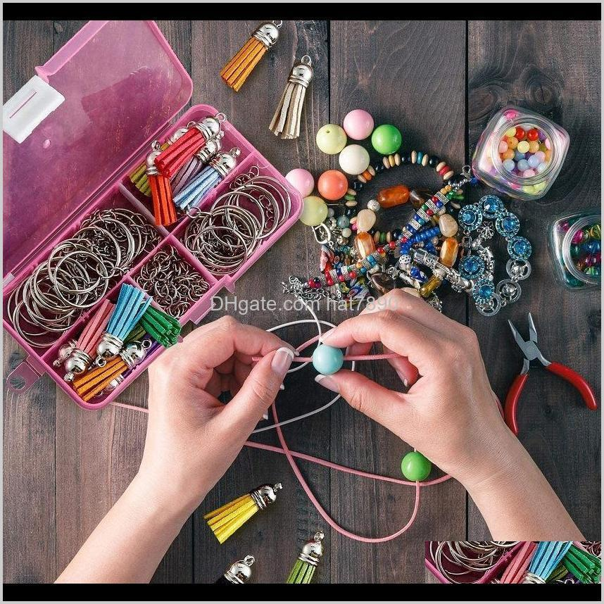 Kimter 100Pcs Acrylic Keychain Blanks Transparent Discs Colourful Leather Tassel Pendant Keyrings for DIY Crafts Jewelry Free DHL