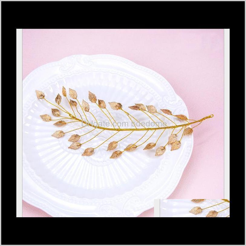 korean version headdress handmade leaf hair decoration bridal dress accessories bridal handmade headdress