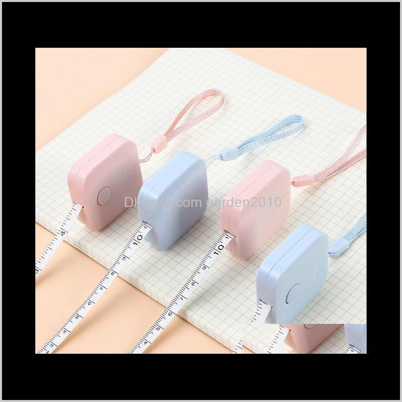 1.5m candy colore mini square portable tape measures measure 3 surround measuring & gauging tools measurement analysis instruments