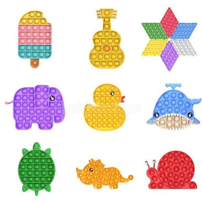 Самая низкая цена Push Bubble Sensosory Fidget Toy Toys Reliver Trange Lears Toys для детей день рождения Подарки