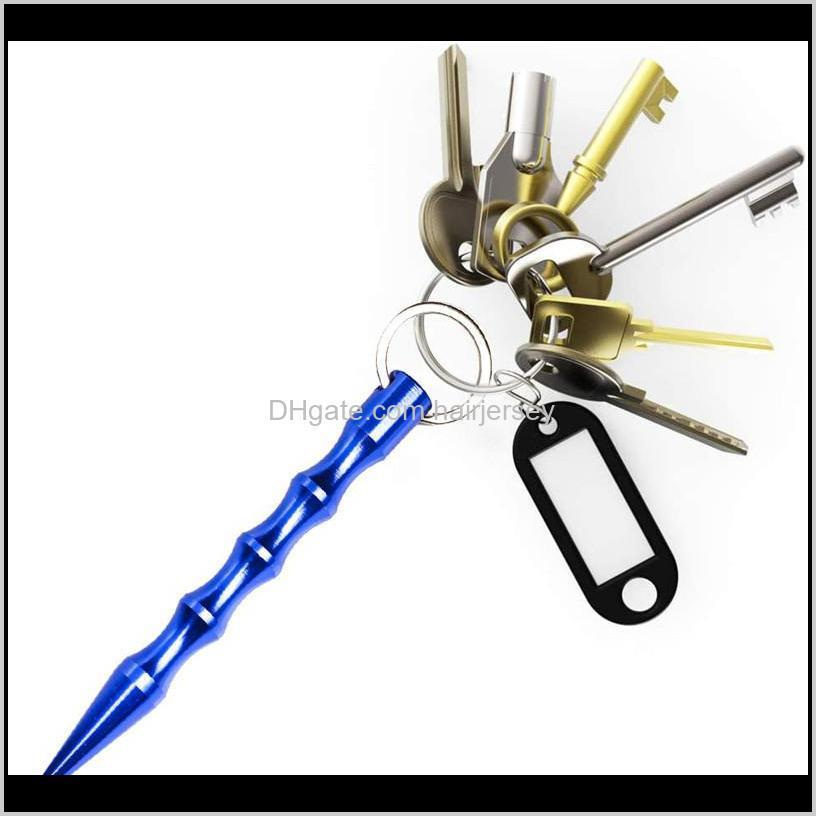 aluminum self defense weapons safety for women girl spike stick keychain key chain metal wholesale nhf6169