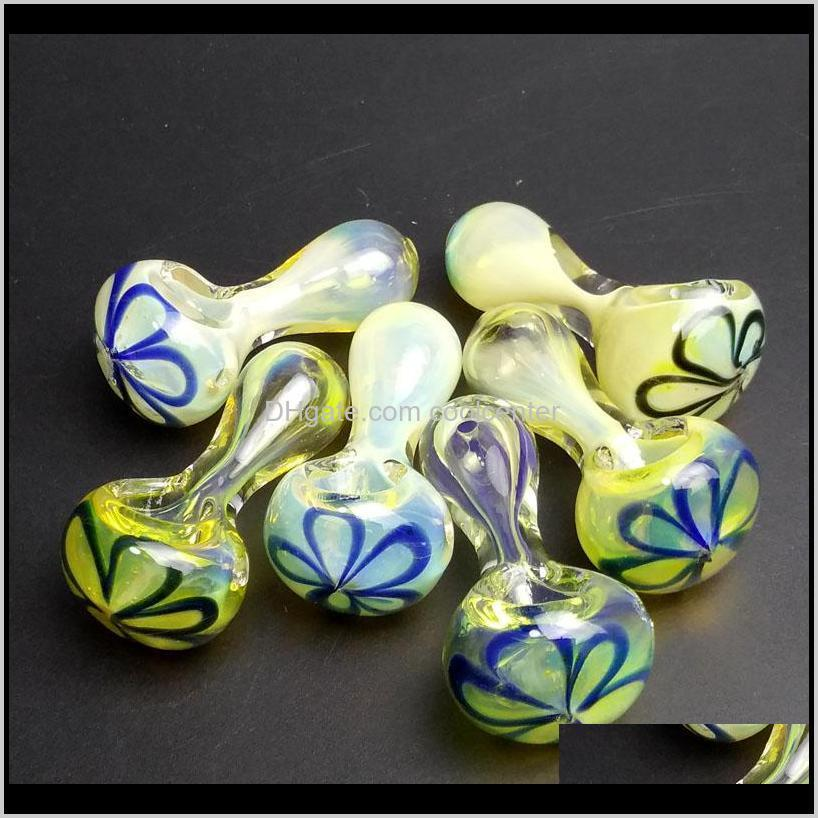 2.5 inch mini cute fumed glass pipes smoking dogo glass spoon pipes for smoking pipes bongs tobacco for glass pipe shipping