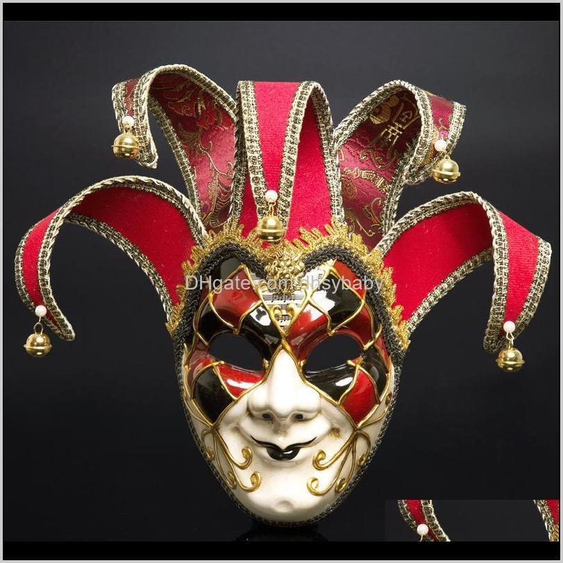 italy venice style mask 44*17cm christmas masquerade full face antique mask 3 colors for cosplay night club