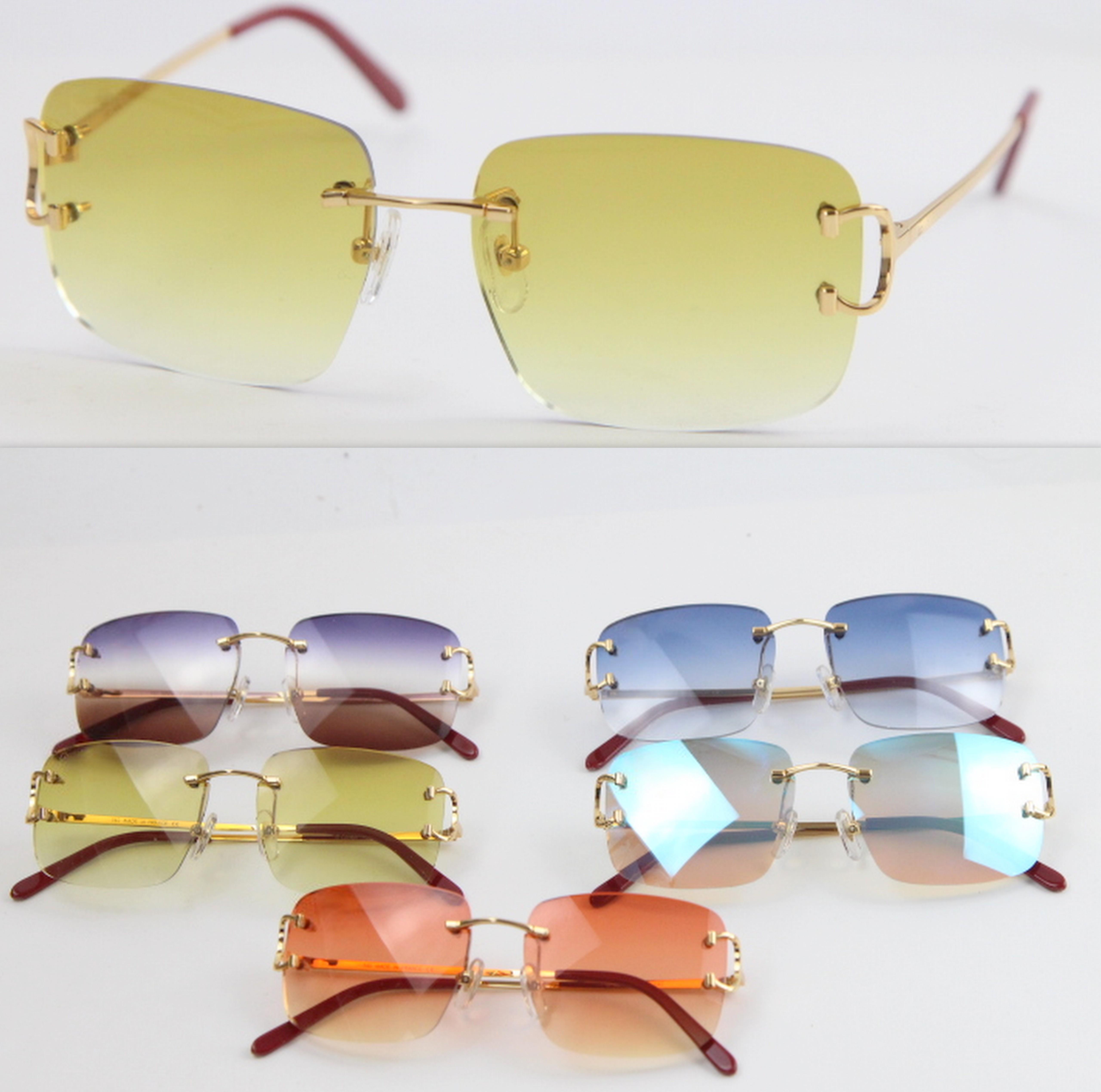2020 popular new style rimless sunglasses hot t8200816 delicate unisex fashion glasses metal sun glasses driving glasses c decoration