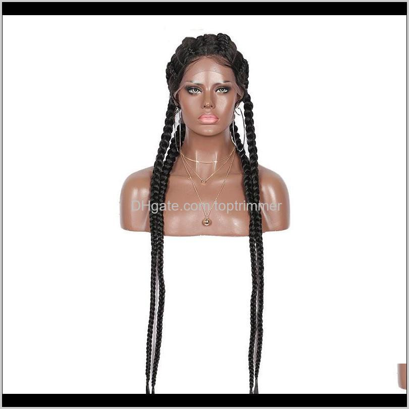 dilys lace front wigs braided wigs for black women synthetic cornrow braids lace wigs with baby hair box braids wig 28 inch