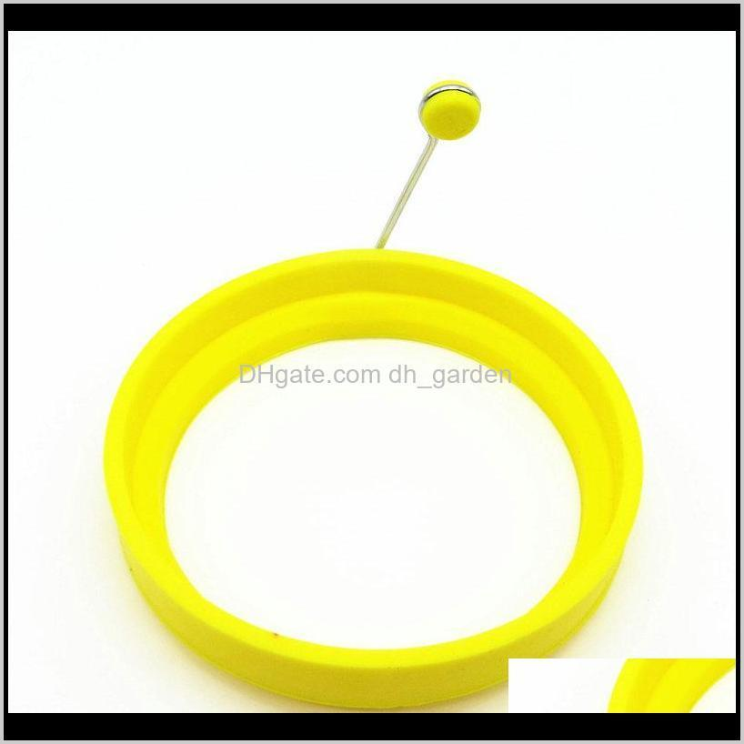 2018 silicone egg frying mold round shape egg mold diy cooking biscuit meatloaf molds set tool pancake kitchen tools
