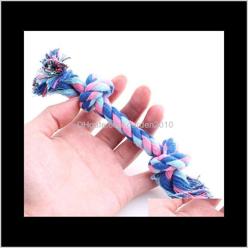 multi double head cotton rope knot odontoprisis toys hand knitting resistance to bite pet toys & chews dog pet supplies ha307