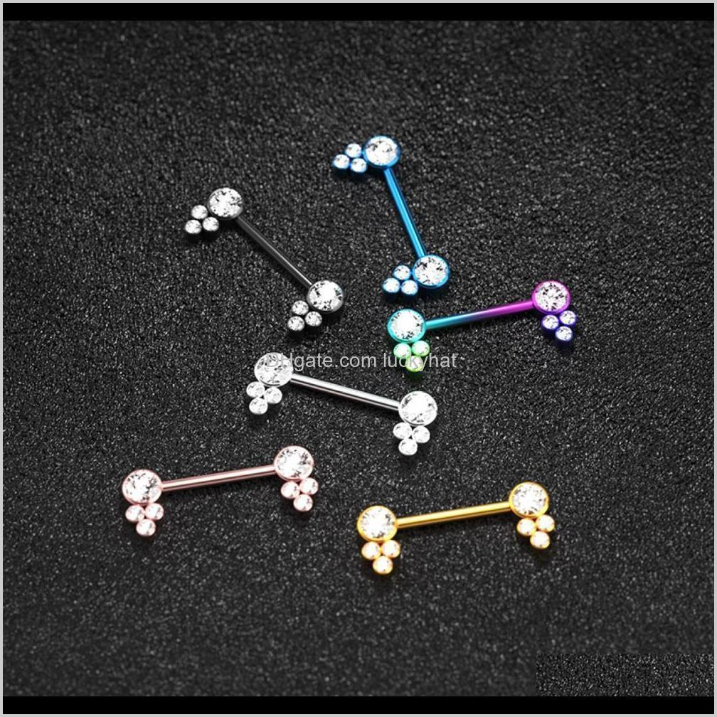 1pair punk nipple piercing stainless steel nipple ring set body nose stud piercing women jewelry accessories gifts