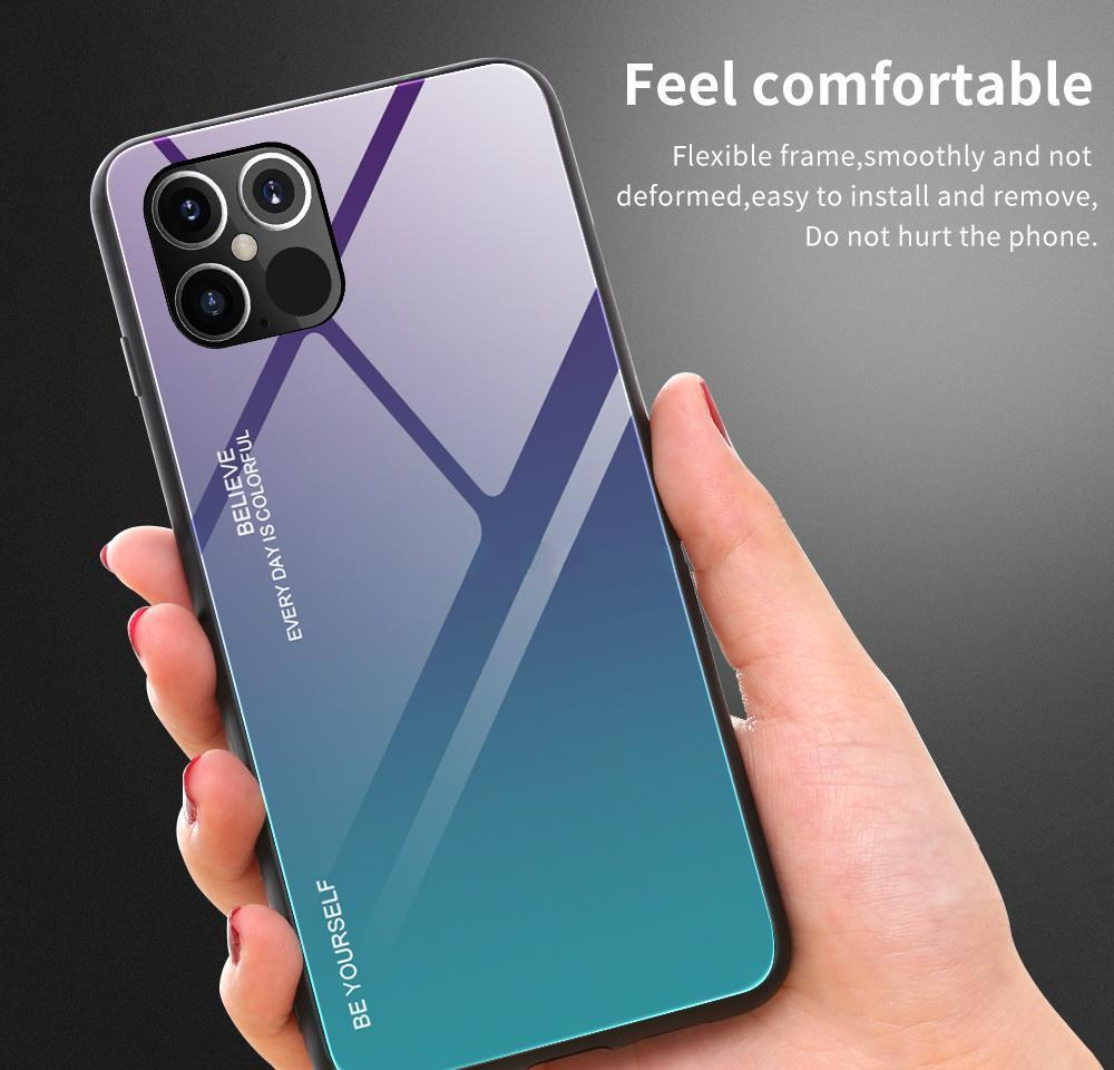 tempered glass case for phone 12 11 pro max x xs max xr 7 8 6s plus fundas gradient cove for phone 12 pro max xr 12promax 11 cases