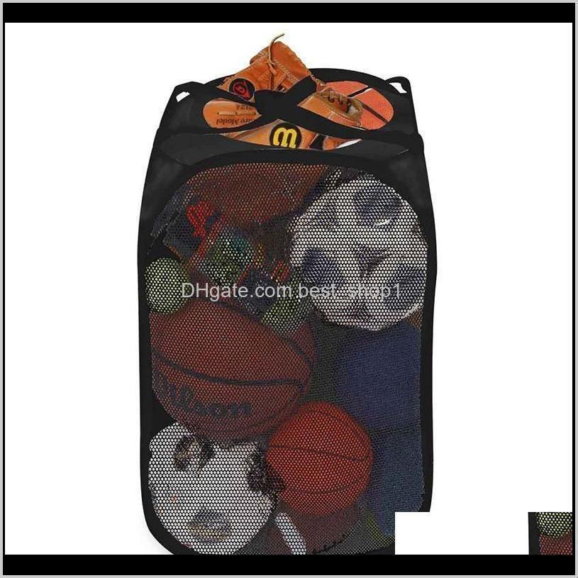 foldable storage basket breathable sorting box laundry net bag storage various sundries basketball towel shoes environmentally