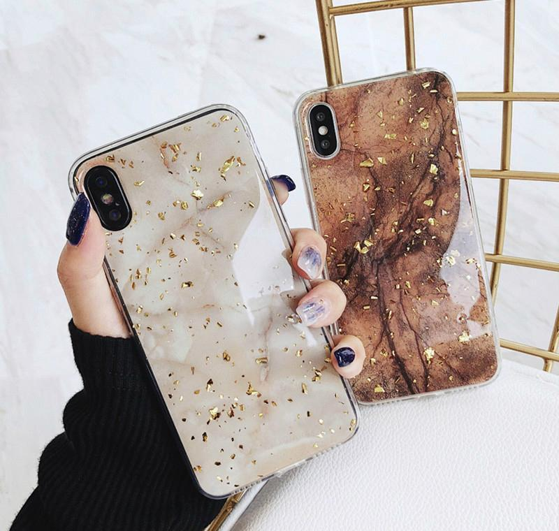phone case for phone 11 6 6s 7 8 plus x xr xs max luxury bling gold foil marble glitter soft tpu golden marble phone case for phone