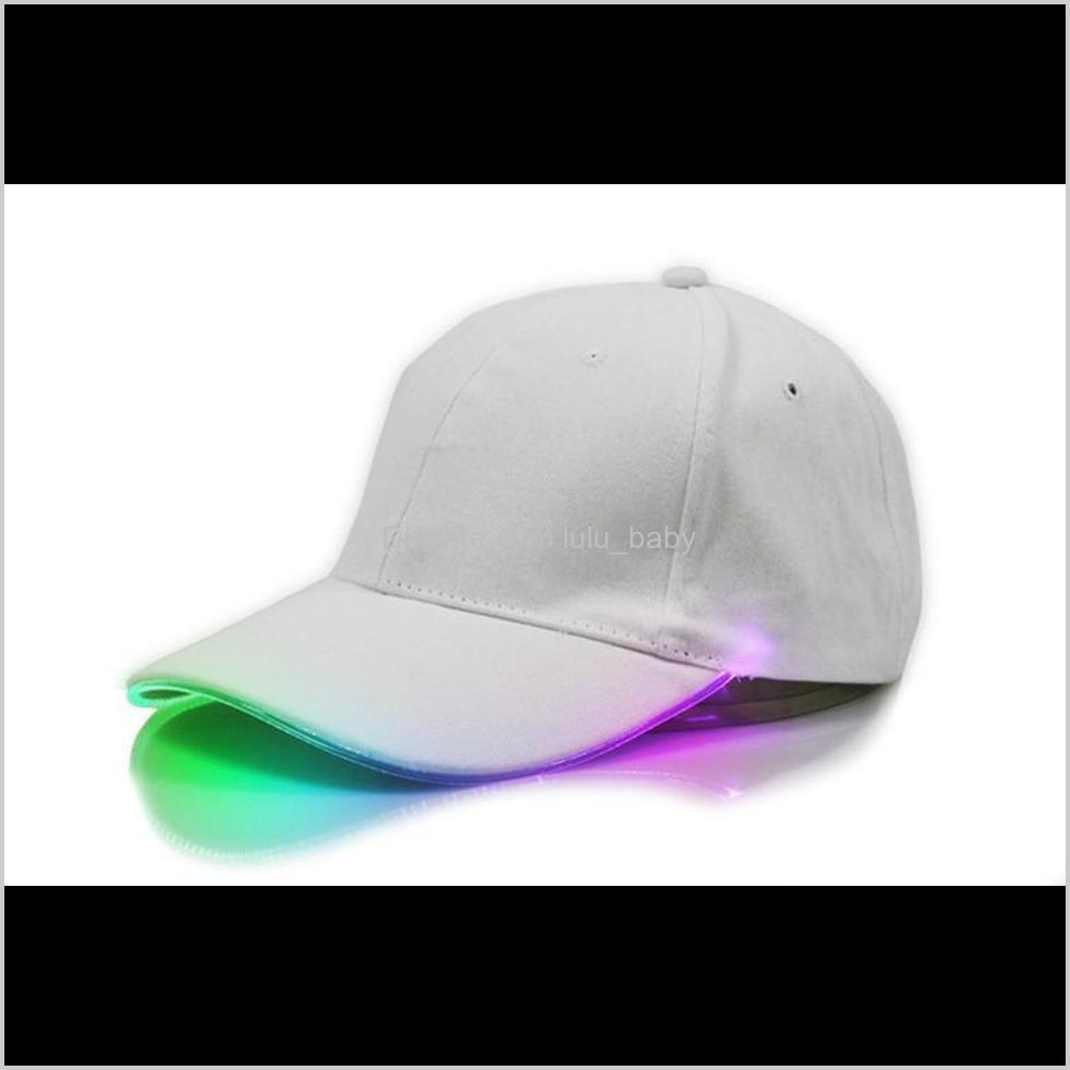 led baseball caps cotton fiber optic shining led light ball caps glow in dark adjustable snapback hats luminous party hats snapback