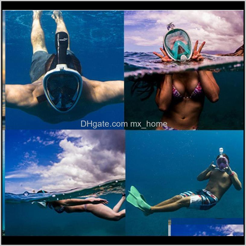kids full face mask safe snorkeling scuba watersport underwater diving swimming snorkel anti fog full-face children full dry diving
